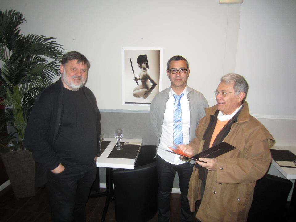 Exposition Pierre Eric Preux au restaurant l'Adresse à Pau photographie bruno giancola president cafetier